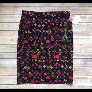 Lularoe retro pattern Cassie 2XL NWT
